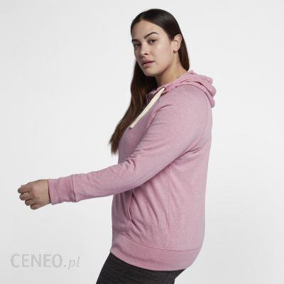 Damska rozpinana bluza z kapturem Nike Sportswear Gym Vintage (duże rozmiary) Różowy Ceny i opinie Ceneo.pl