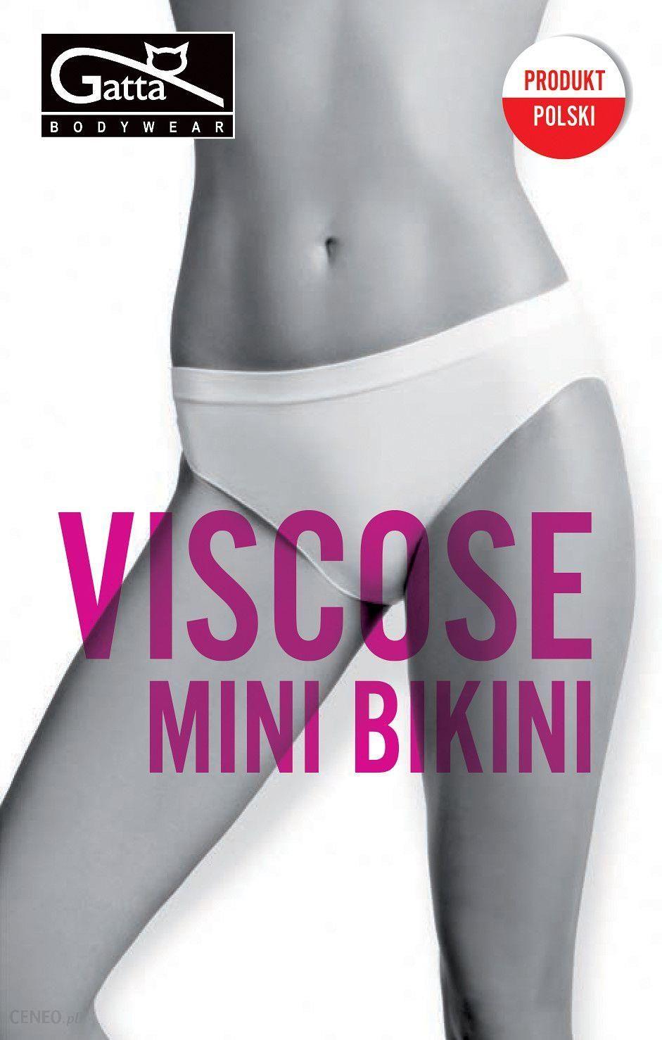 52c268635b83a0 GATTA Majtki - Mini Bikini Viscose Light Nude r. XL (0041543S46337) -  zdjęcie