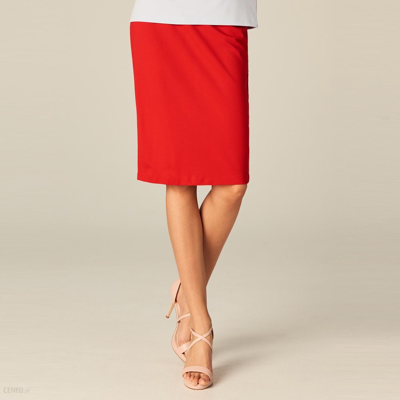 Czerwona ołówkowa spódnica marki Mohito