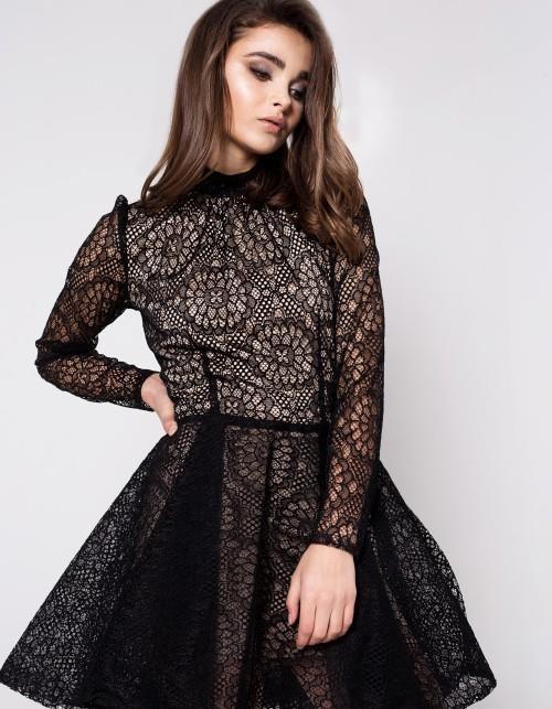 6728155150 Sukienka koronkowa z długim rękawem - Ceny i opinie - Ceneo.pl