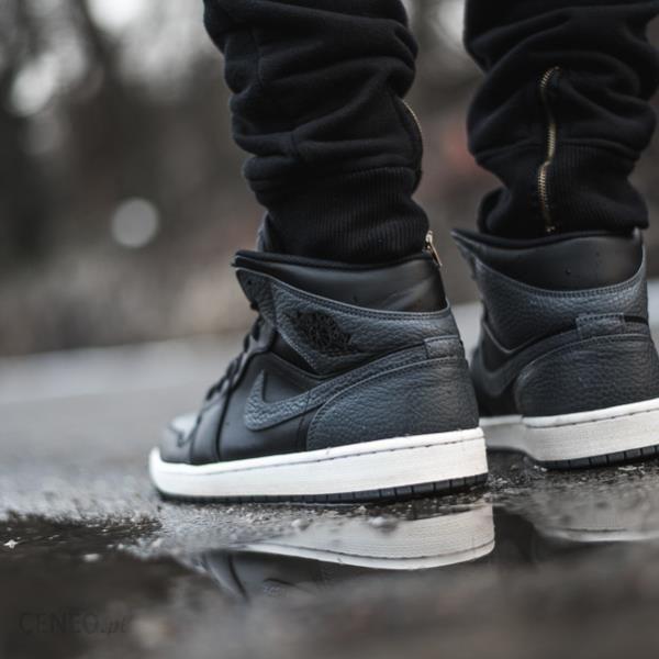 ab28ebd4c50 Buty męskie sneakersy Air Jordan 1 Mid Black Dark Grey 554724 041 ...