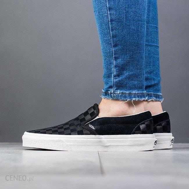 Buty damskie sneakersy Vans Classic Slip On VA38F7QCF CZARNY Ceny i opinie Ceneo.pl