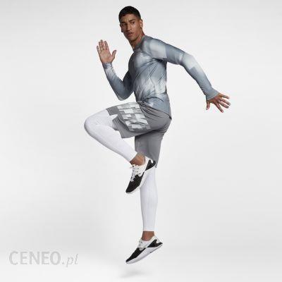 Nike Męska Koszulka Treningowa Z Długim Rękawem Pro Hyperwarm Szary 838014065