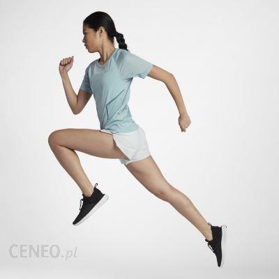 Nike Damska Koszulka Z Krótkim Rękawem Dri Fit Miler Niebieski 890349452 Ceny i opinie Ceneo.pl