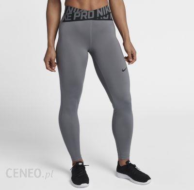 Damskie legginsy treningowe Nike Pro (duże rozmiary) Szary Ceny i opinie Ceneo.pl