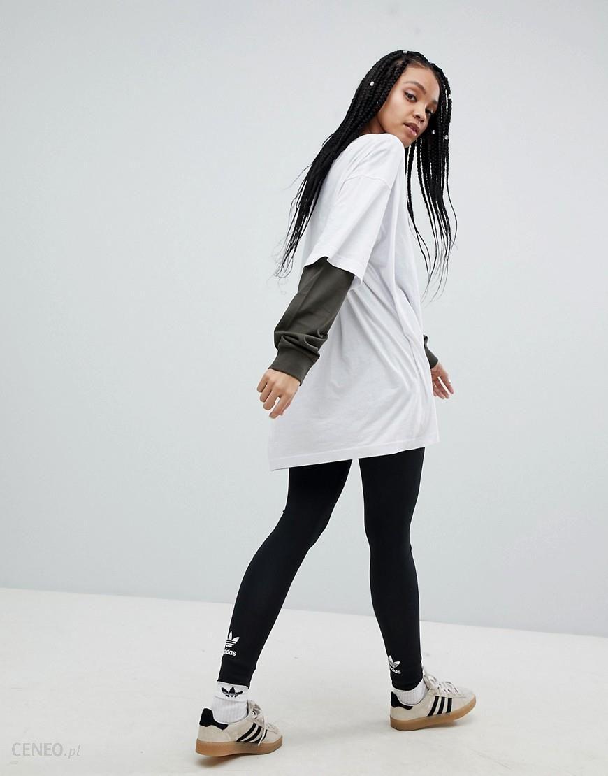 size 40 31cc2 58a97 adidas Originals adicolor Trefoil Leggings In Black - Black - zdjęcie 1