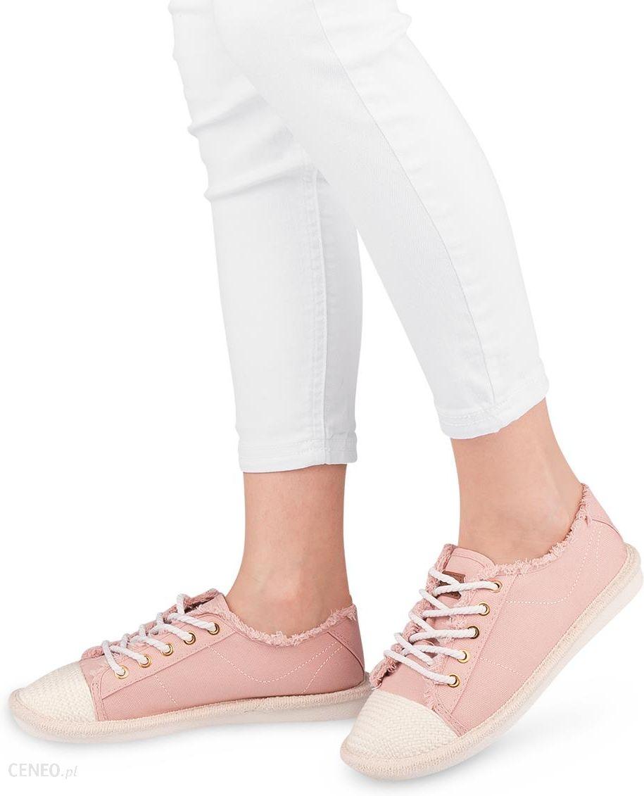 Trampki damskie Ideal Shoes X 9716 Różowe Różowy Ceny i opinie Ceneo.pl