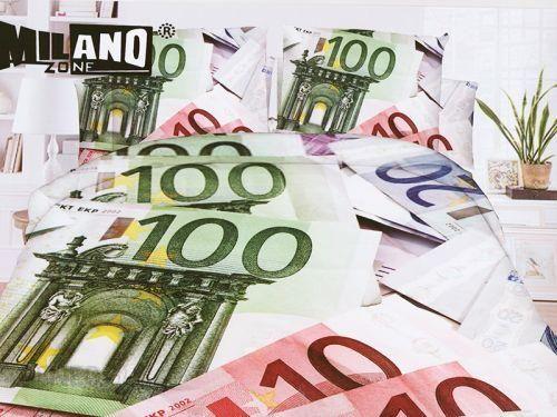 Milano Pościel 3d Pieniądze Euro 160x200 Prześcieradło