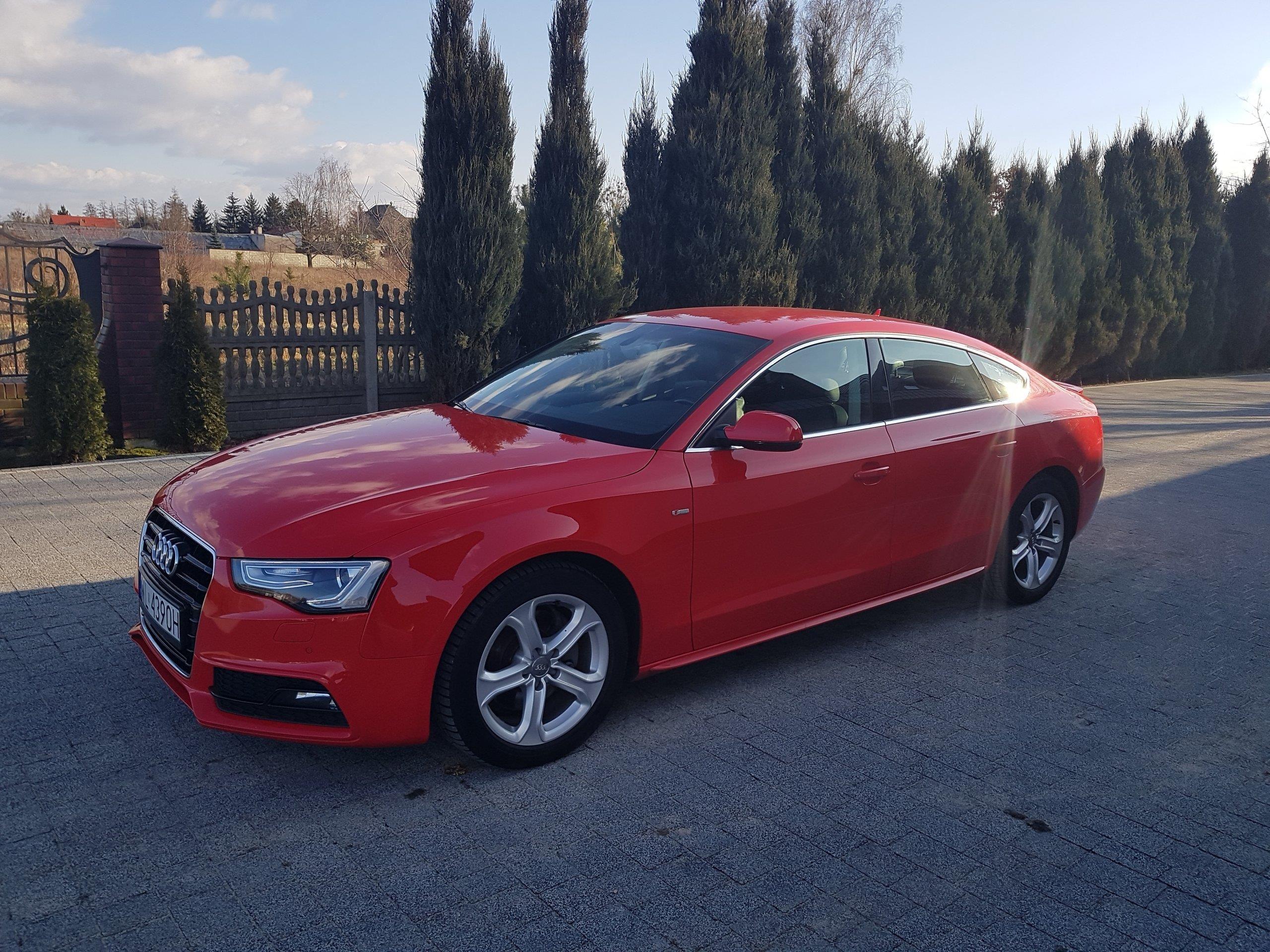 Modne ubrania Audi A5 8T 2012 benzyna 211KM sedan czerwony - Opinie i ceny na GU08