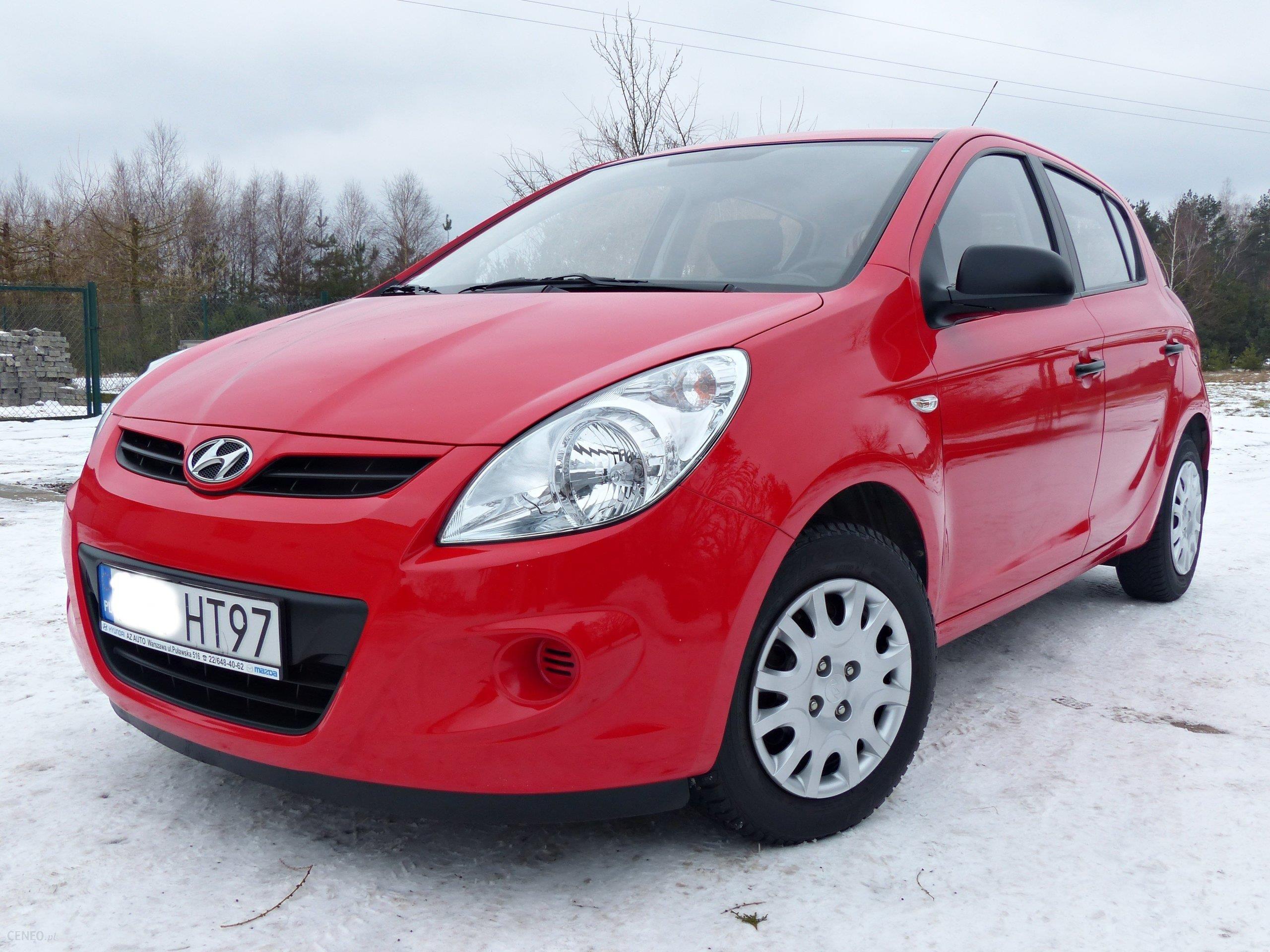 Bardzo dobra Hyundai i20 I 2011 benzyna 75KM hatchback czerwony - Opinie i ceny JK56