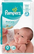 Pampers ProCare Rozmiar 0, 38 Pieluch