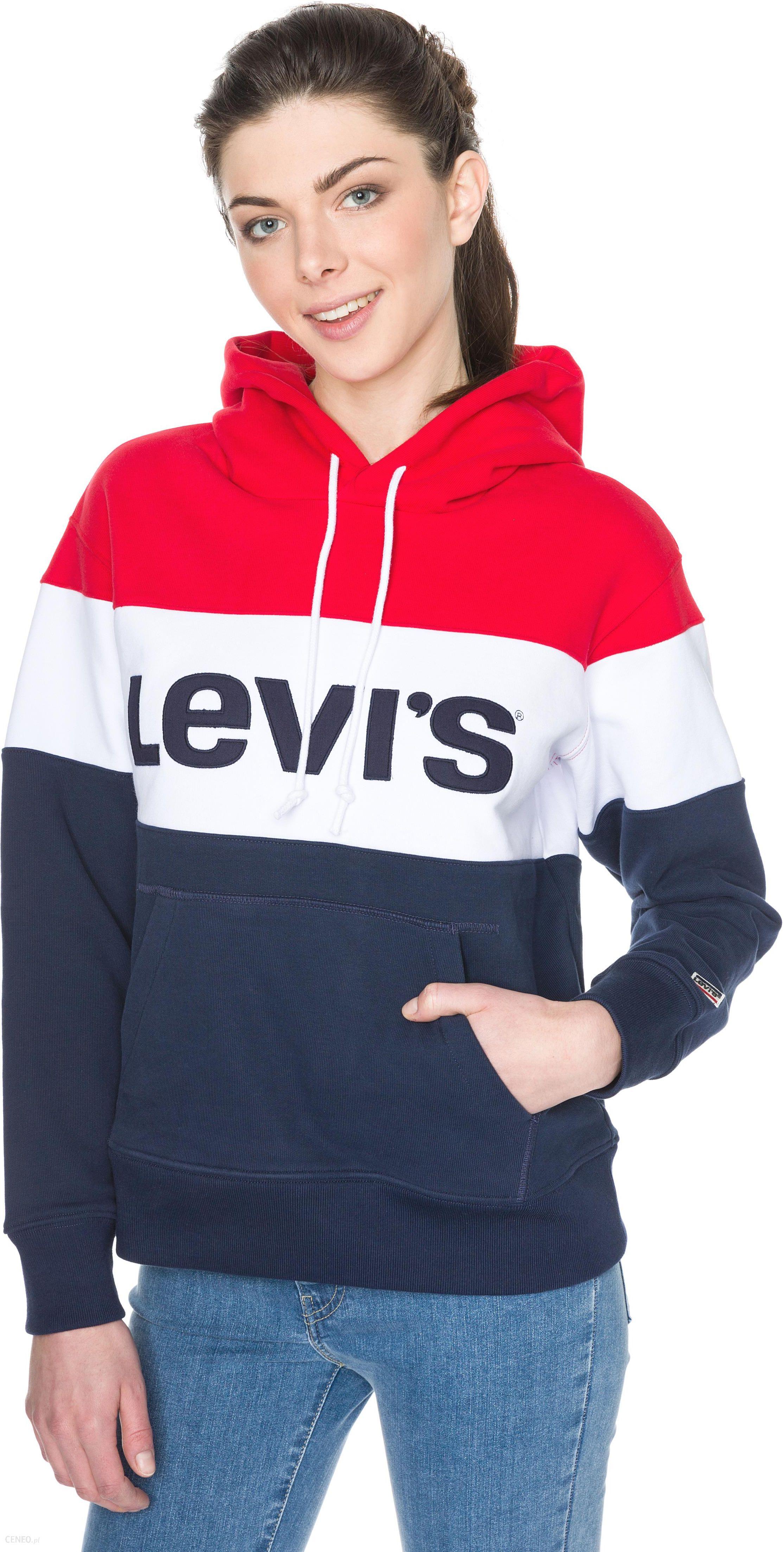 5d257ee69f Levi s® Bluza Niebieski Czerwony Biały L - Ceny i opinie - Ceneo.pl