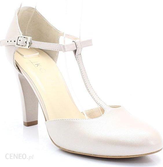 74a5a709eee01 KOTYL 5871 PERŁA LICO - Skórzane buty ślubne doskonałe do tańca - Beżowy -  zdjęcie 1