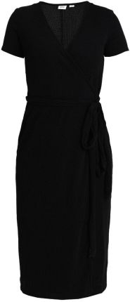 GAP WRAP MIDI Sukienka dzianinowa true black