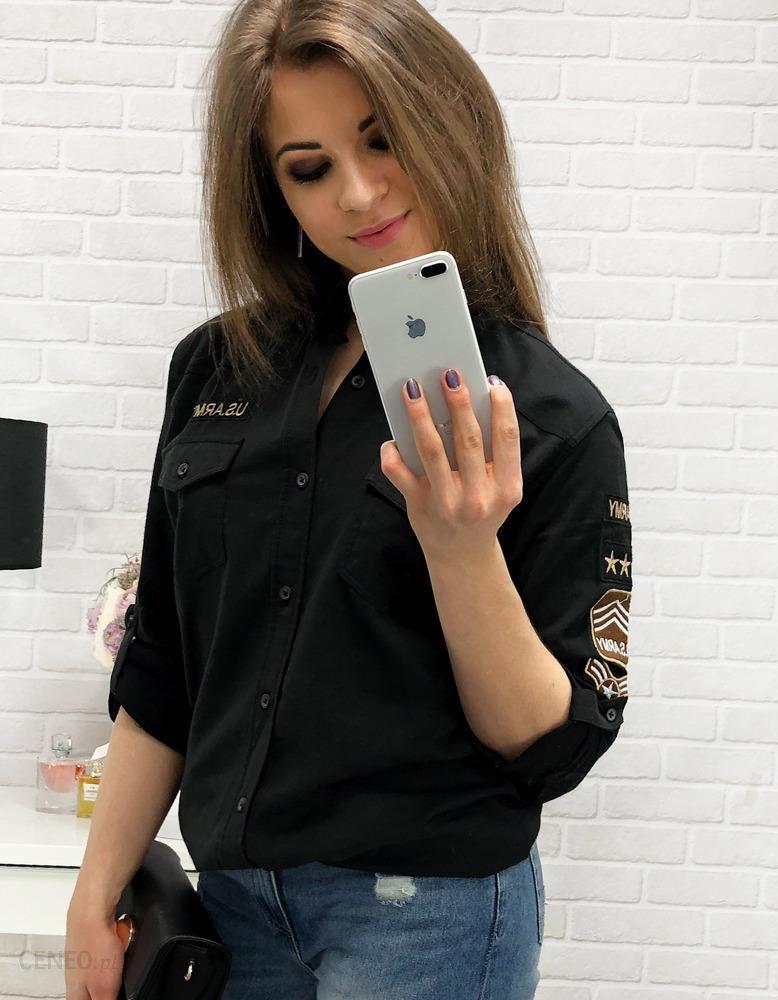 87e3a30fb4 Koszula damska z naszywkami czarna (dx1426) - Czarny - Ceny i opinie ...