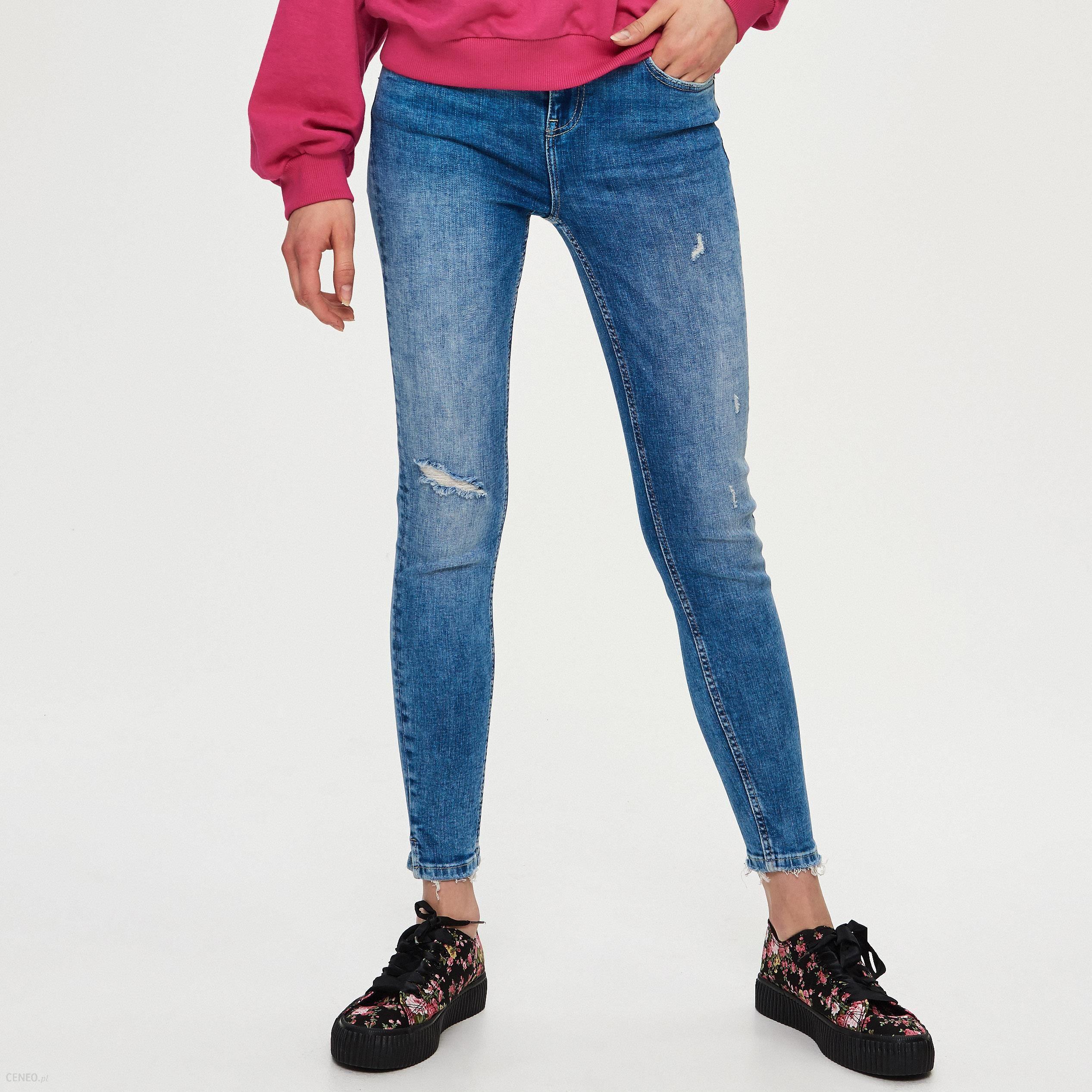 Sinsay Ladies` jeans trousers Niebieski Ceny i opinie Ceneo.pl