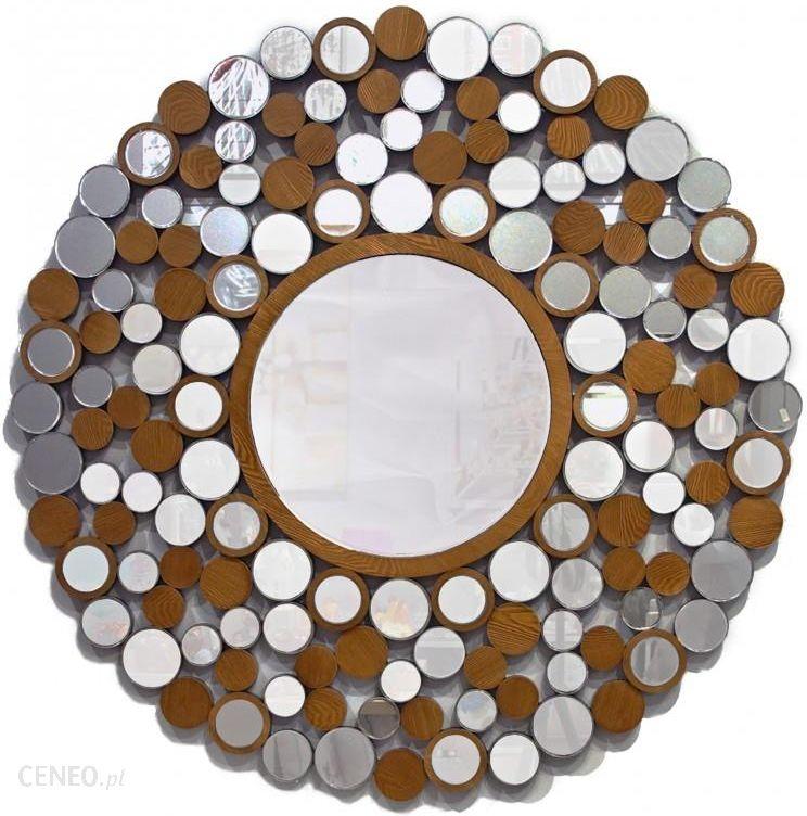Artehome Arletta Okrągłe Lustro Dekoracyjne W Ażurowej Drewnianej Ramie Gd8335