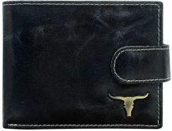 c2af397ec92cd Skórzany Portfel Męski Buffalo Wild Byk z RFID RM02L BAW - Ceny i ...
