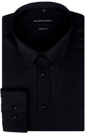 Koszula wizytowa Victorio Czarna, Button Down KSDWVCTO0286  xpdCd