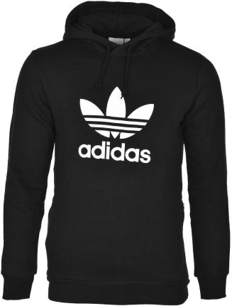 Rozpinana bluza z kapturem czarna ciemnogranatowa Adidas