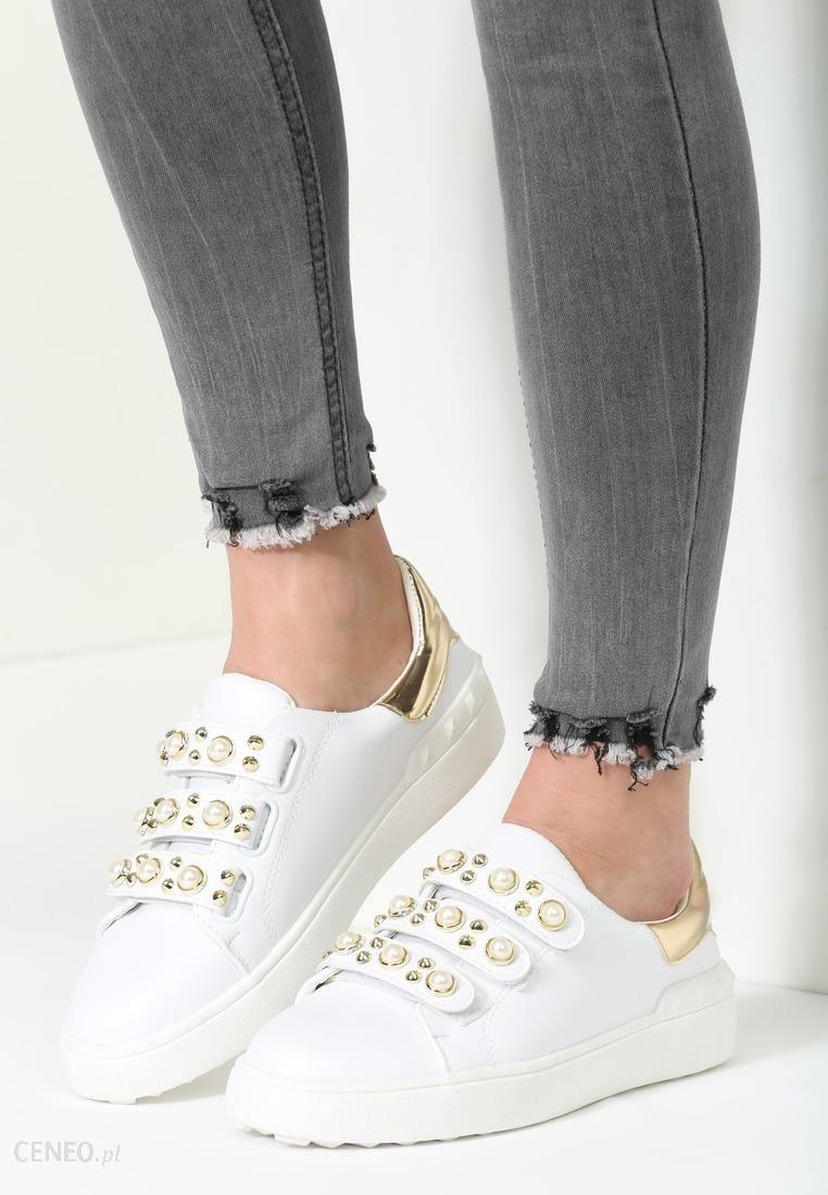 Renee Biało Złote Buty Sportowe No Alibi