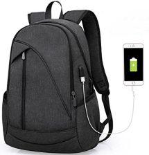 16779050b674 Amazon Plecak damski męski studentów Back Pack z przyłączem ładowania USB  do 12 – 16 cali