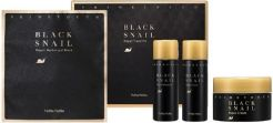 Holika Holika Prime Youth Black Snail maska w płacie 25g + krem do twarzy 18ml + tonik 31ml + emulsja 31ml