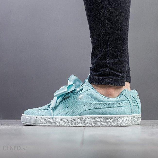 Buty damskie sneakersy Puma Suede Heart Pebble 365210 03 NIEBIESKI Ceny i opinie Ceneo.pl
