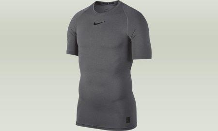 Nike Pro HyperZimny Shortsleeve Fitted Koszulka Bialy