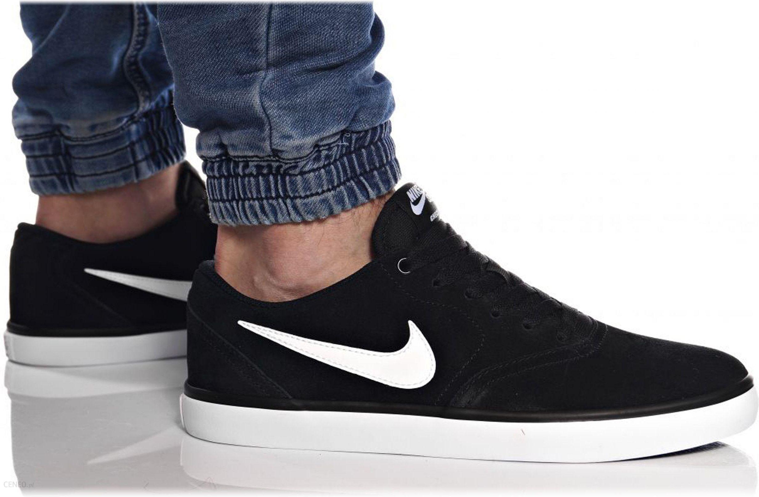 buty nike męskie skórzane czarne