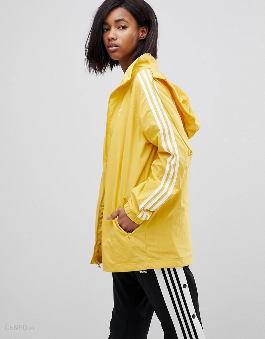 adidas Originals adicolor Three Stripe Stadium Jacket With Hood In Black