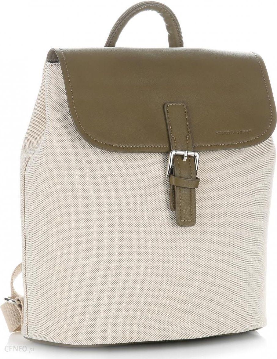 fff52349c3f0c Plecaki Damskie renomowanej firmy David Jones z mozliwością poszerzania  Khaki - zdjęcie 1