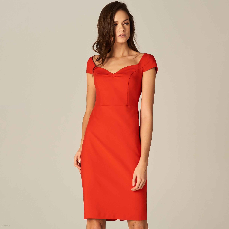 2ad0fde28a Mohito - Dopasowana sukienka ze zmysłowym dekoltem - Czerwony - zdjęcie 1