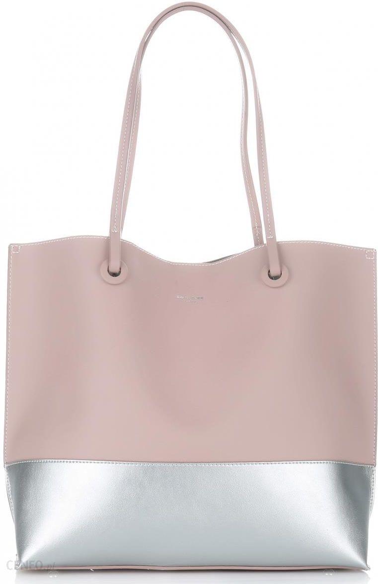 e6b832887a1f1 David Jones Pojemne Torby Damskie Shopper XL Różowe - Ceny i opinie ...