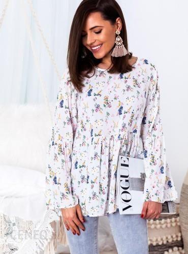 2757751614b25f SELFIEROOM Bluzka BLOSSOM - biała w kwiaty - Ceny i opinie - Ceneo.pl