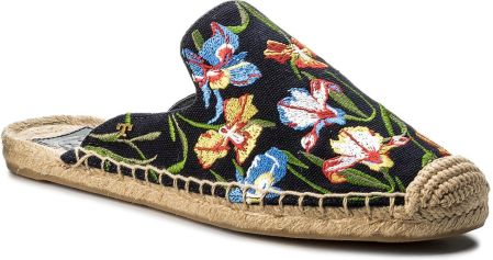 7d82d96fba339 Espadryle TORY BURCH - Max Embrioidered Espadrille Slide 46913 Perfect  Nany Painted Iris 449 eobuwie