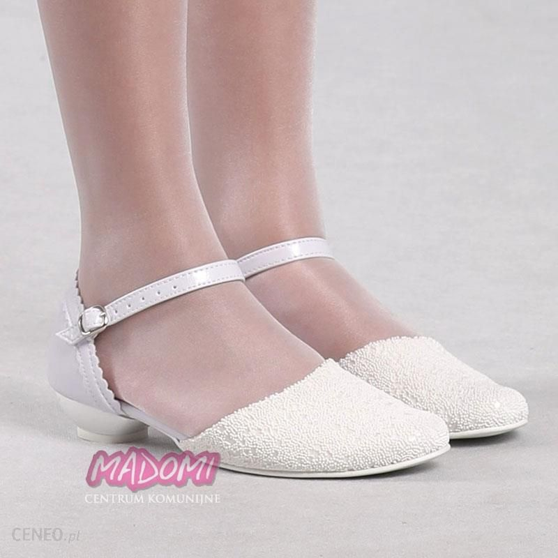 088b5c53 Eleganckie buty komunijne dla dziewczynki OM167 - Ceny i opinie ...