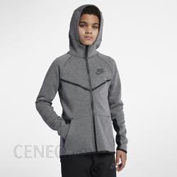 Bluza Nike Sportswear Tech Fleece Windrunner Super Ciemnoszary melanżSzaryCzarny
