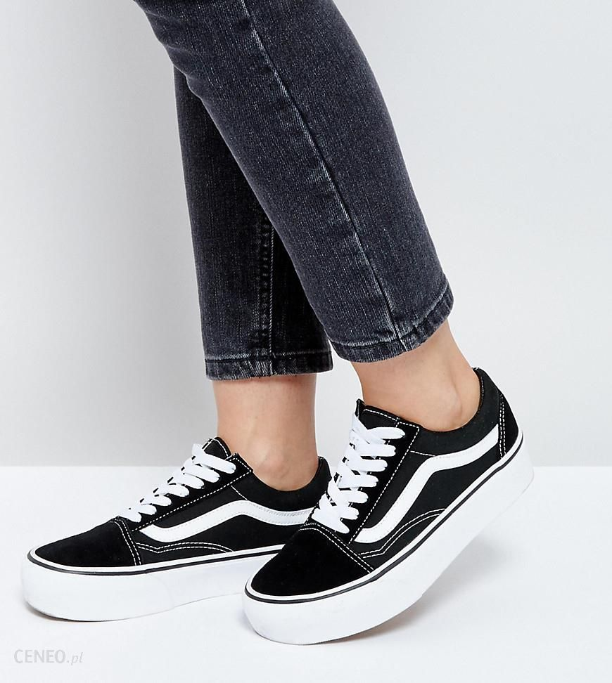 Vans Old Skool Platform Trainers In Black And White Black Ceneo.pl