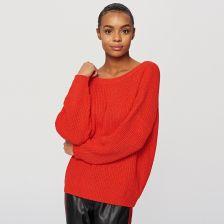 29dc268ec2d3 Reserved - Sweter z dekoltem z tyłu - Czerwony - Ceny i opinie ...