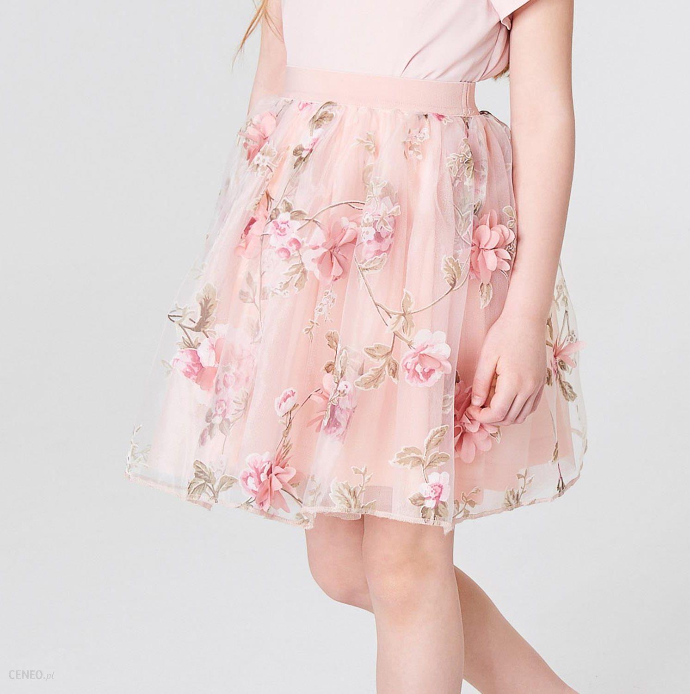 Tiulowa spódnica w kwiaty Little Princess, MOHITO, SZ268 03X