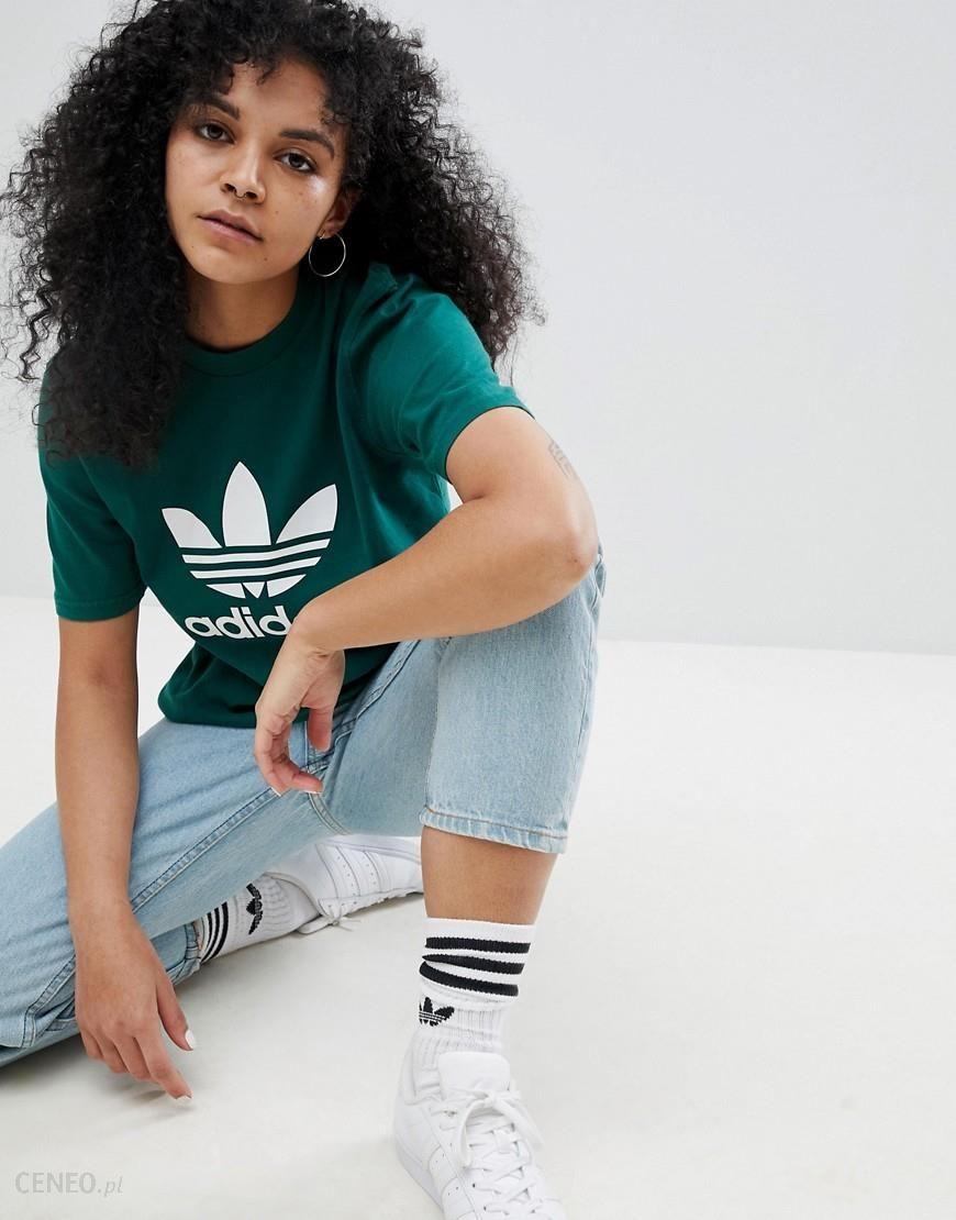 Adidas Originals adicolor Trefoil Oversized T Shirt In Green Green Ceneo.pl