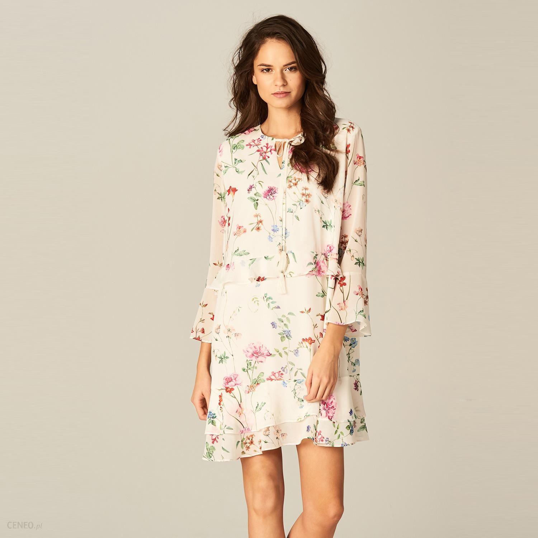 f971082f4e Mohito - Zwiewna sukienka w kwiaty - Biały - Ceny i opinie - Ceneo.pl