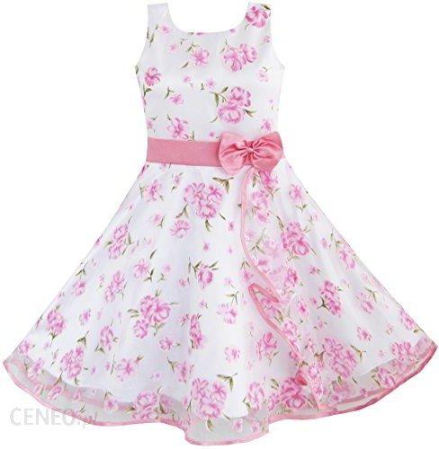 58c112a7a9d0b1 Amazon Sukienka dla dziewczynki 3 warstwy różowe kwiaty na kuchenkę  mikrofalową pociągu na wesele, kolor