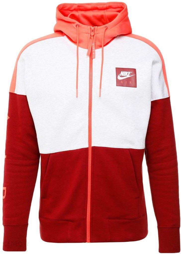 86df7dba10b1 Nike Sportswear AIR FULL ZIP HOODIE Bluza rozpinana birch heather rush  coral team red