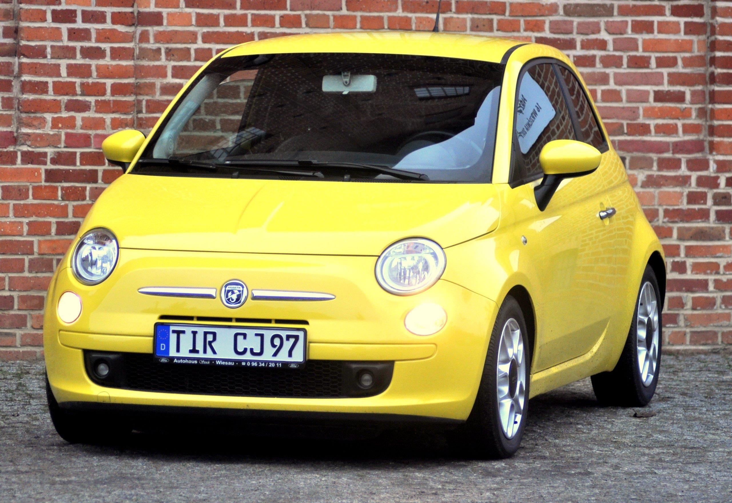 Poważne Fiat 500 2008 benzyna 100KM hatchback żółty - Opinie i ceny na HQ65