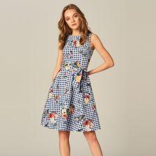 b710f219 Mohito - Rozkloszowana sukienka z dekoltem na plecach - Wielobarwn - Ceny i  opinie - Ceneo.pl