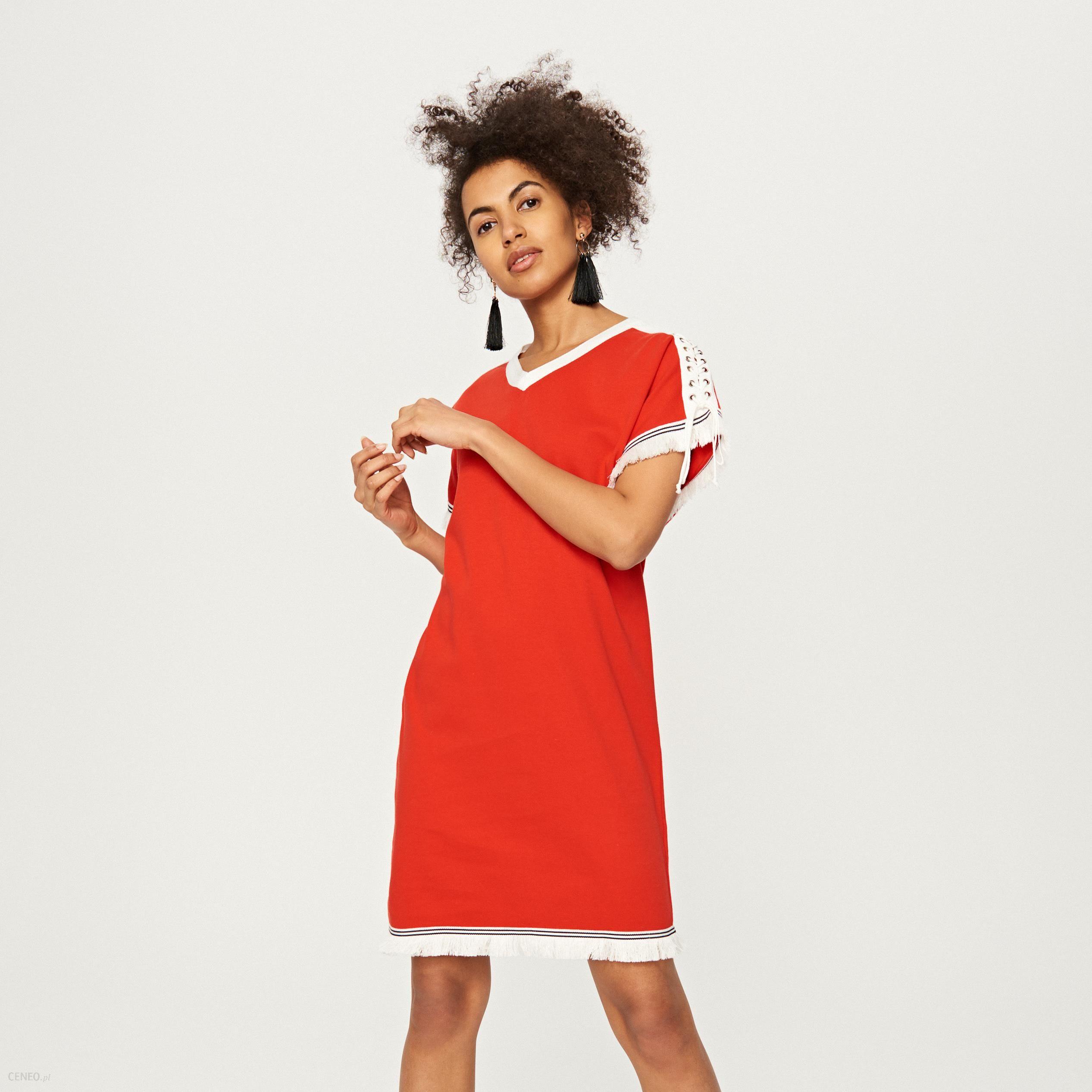 e3bca45279 Reserved - Sukienka w sportowym stylu - Czerwony - Ceny i opinie ...