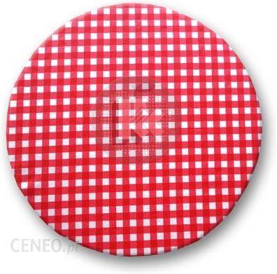 Kolorowa Kuchnia Poduszka Taboretowa Okrągła Krata Czerwona Ikea
