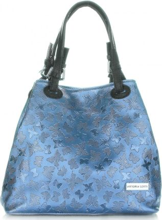 24ac5b5a094ca Eleganckie Torebki Skórzane firmy Vittoria Gotti Lakierowane Niebieskie  (kolory) ...